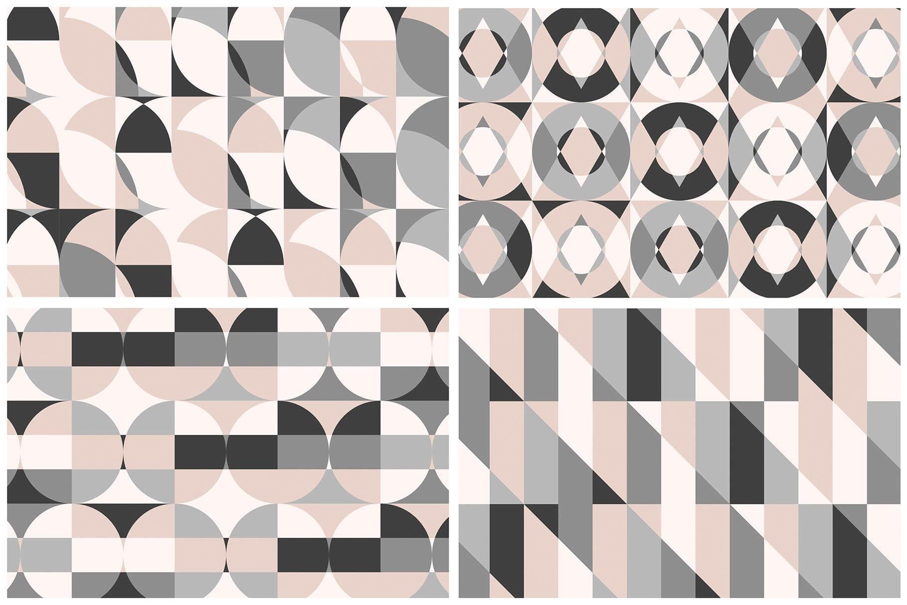 布艺面料装饰纹理图案花纹品牌辅助图形Geometric Play Patterns Tiles插图(10)