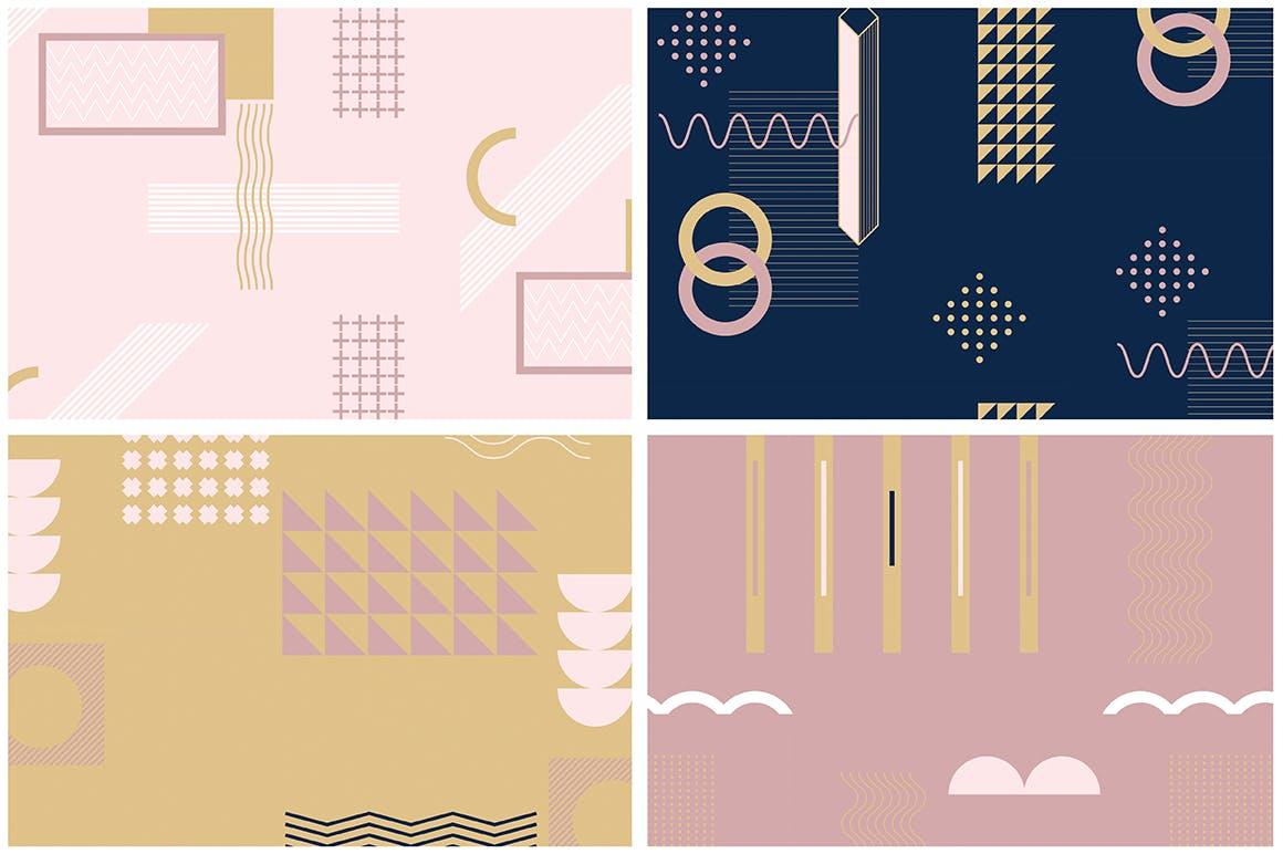 企业品牌服装图形几何风格装饰图案素材Girlboss Patterns插图(10)