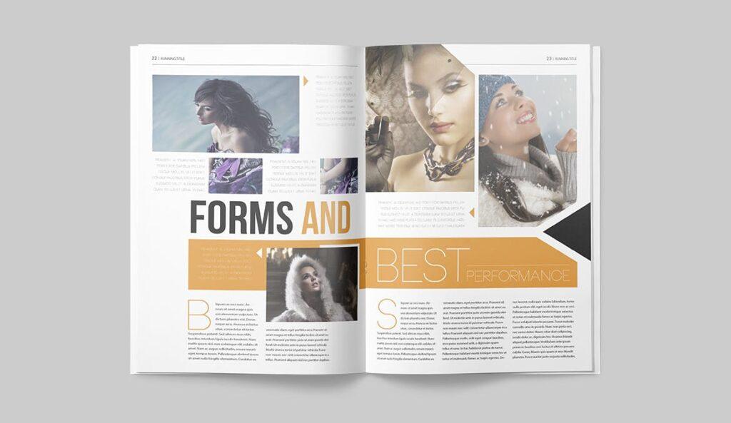 写真集/采访/画廊主题杂志模板下载Magazine Template 6N4PTQJ插图(10)
