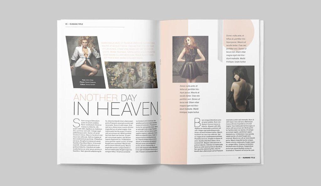 时尚潮流/画廊主题杂志模板Magazine Template SLCJBWR插图(10)