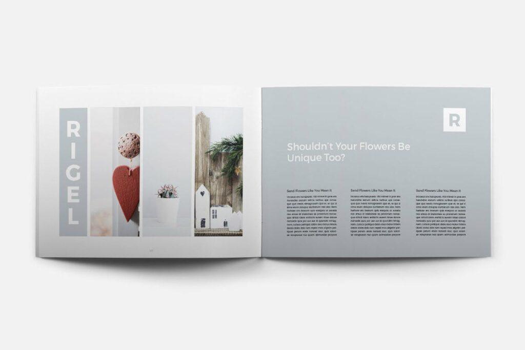简约绿植居家生活类画册模板Rigel Brochure Template插图(10)