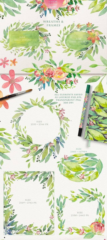 夏季素材鲜花素材装饰排列合集THE SUMMER BREEZE插图(10)