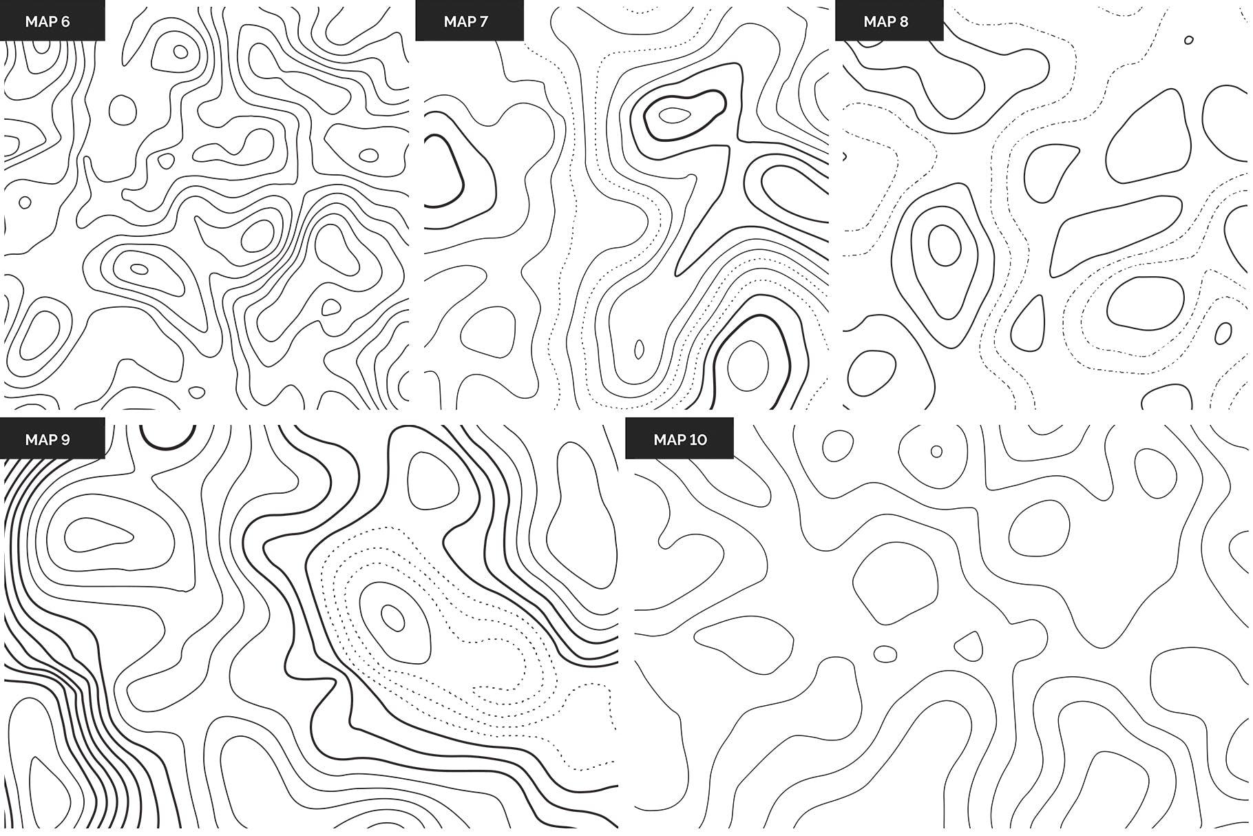 地理纹理地形图盆地素材Topographic Maps Patterns插图(10)
