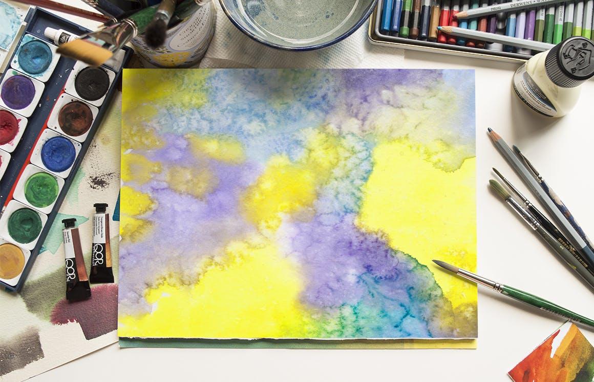 生动和明亮的水彩纹理Vivid & Bright Watercolor Textures插图(10)