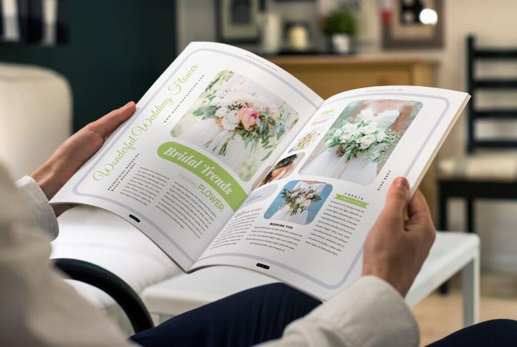 文艺精致版式环保主题婚礼杂志模板Wedding Magazine Template插图(9)