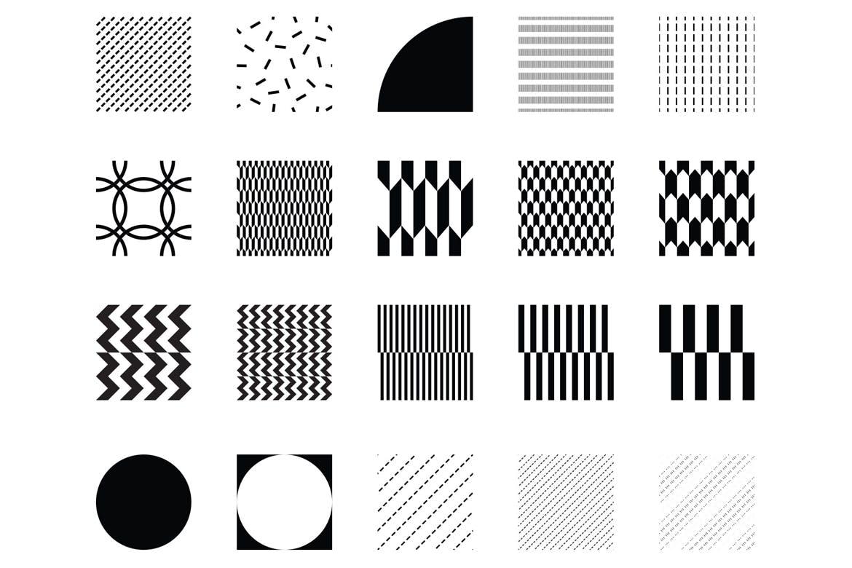 企业品牌辅助图案装饰元素应用场景100 seamless geometric patterns插图(10)