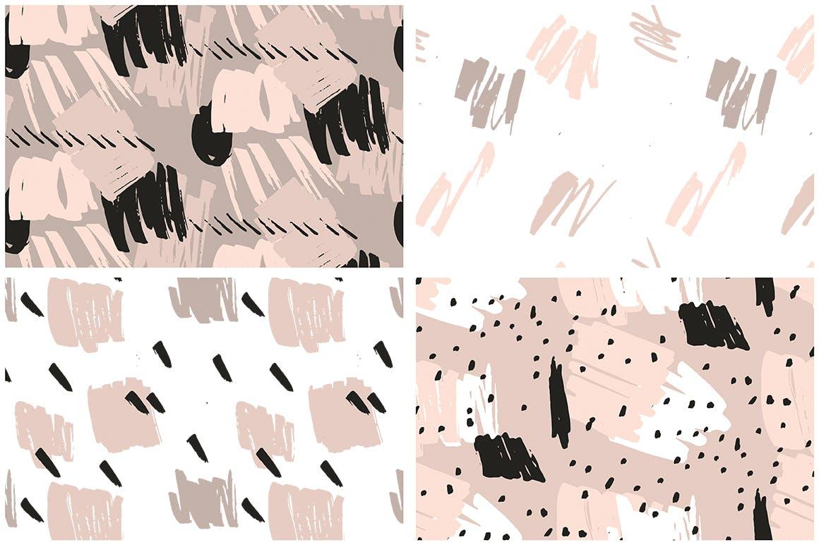 腮红粉红色系列装饰图案花纹素材Blush Crush Patterns Instagram Templates插图(11)