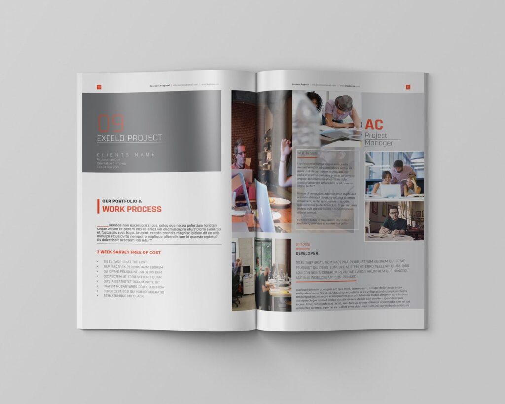 精致企业服务类/产品画册杂志模板Brochure WBYXNN插图(8)