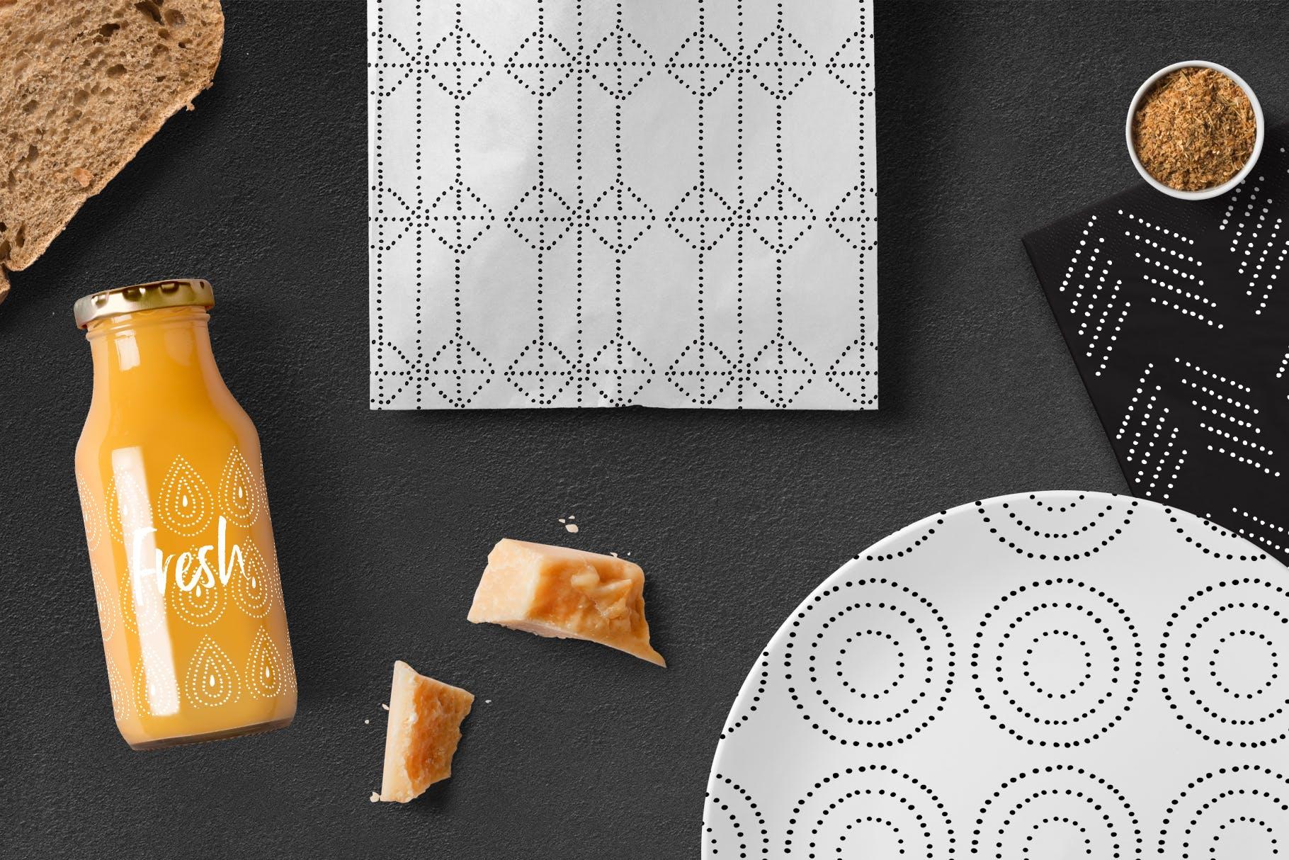 几何形状手工制作图案纹理素材下载Dotted Vector Patterns Tiles插图(8)