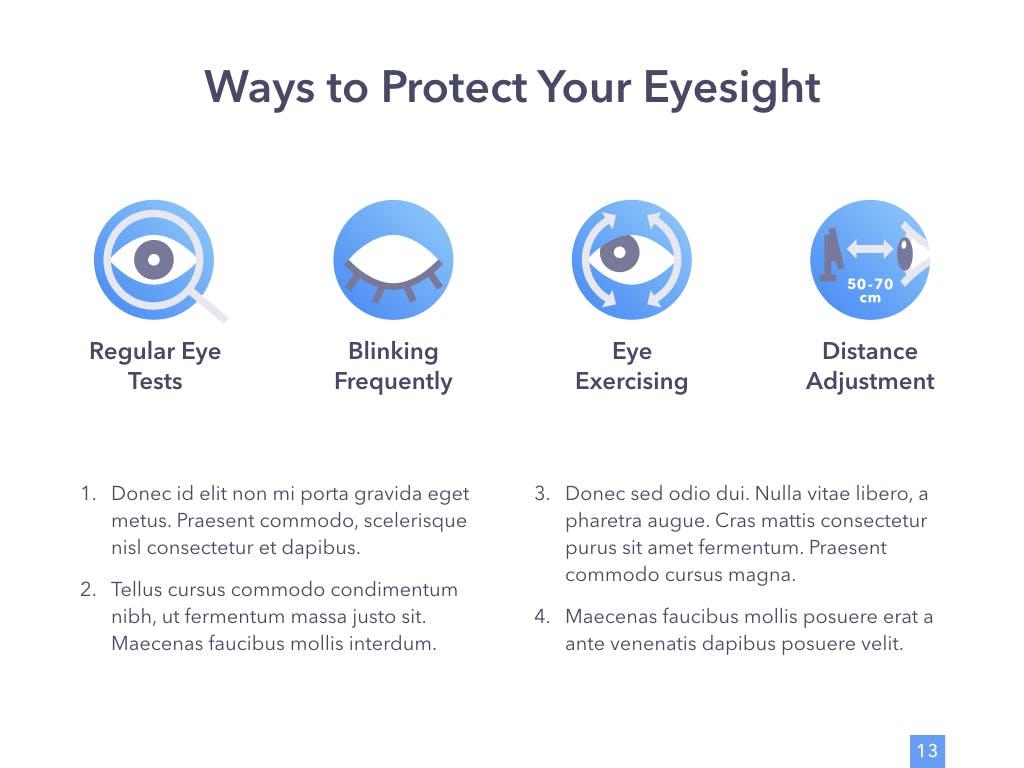眼睛健康演讲活动PPT幻灯片模板Eye Health Keynote Template插图(8)