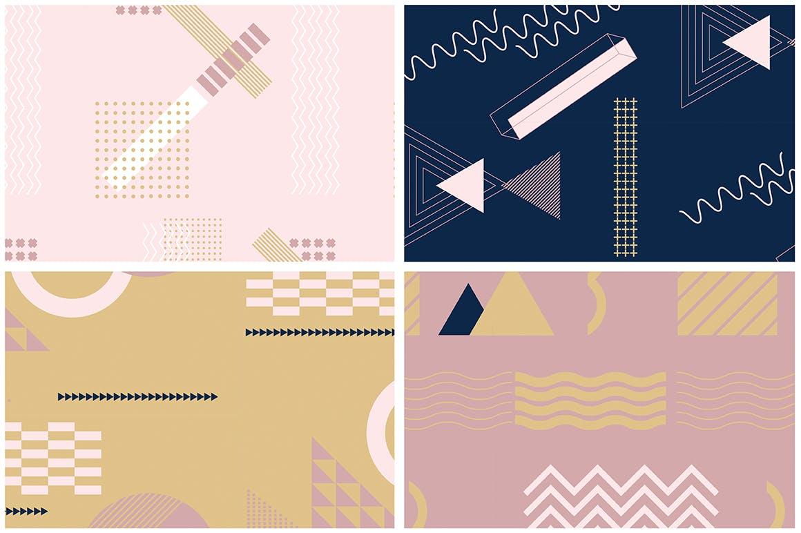 企业品牌服装图形几何风格装饰图案素材Girlboss Patterns插图(11)
