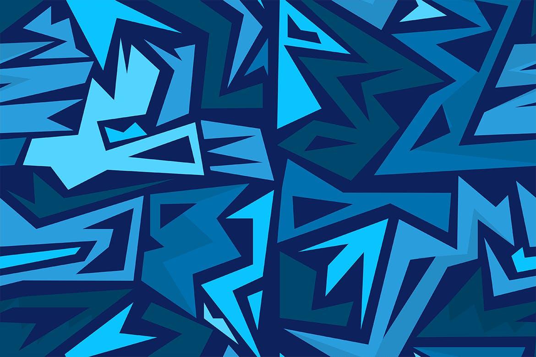 街头艺术创意纹理材质装饰元素Graffiti Maze Seamless Patterns插图(10)