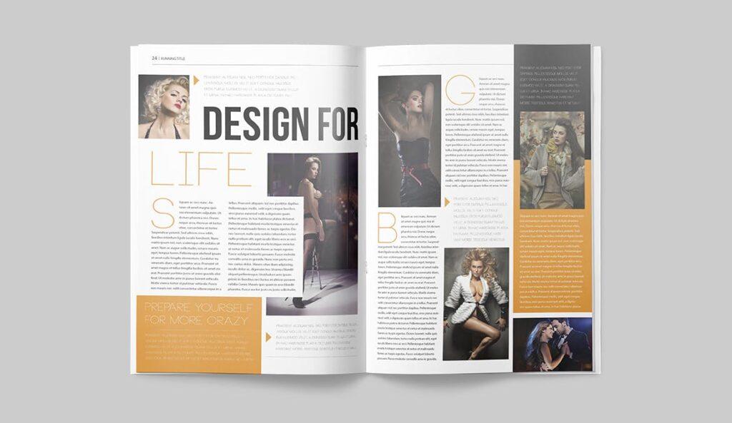 写真集/采访/画廊主题杂志模板下载Magazine Template 6N4PTQJ插图(11)