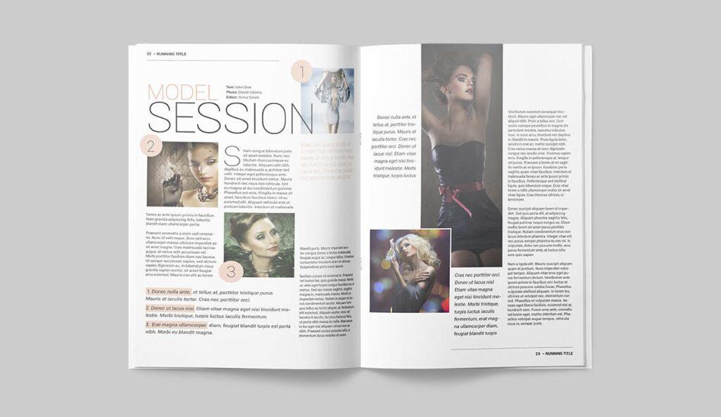 时尚潮流/画廊主题杂志模板Magazine Template SLCJBWR插图(11)
