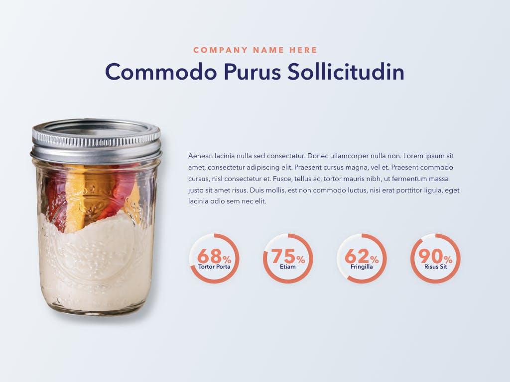西餐料理品牌新菜品介绍PPT幻灯片模板Nutritious PowerPoint Template插图(11)