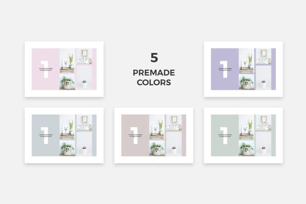 简约绿植居家生活类画册模板Rigel Brochure Template插图(11)