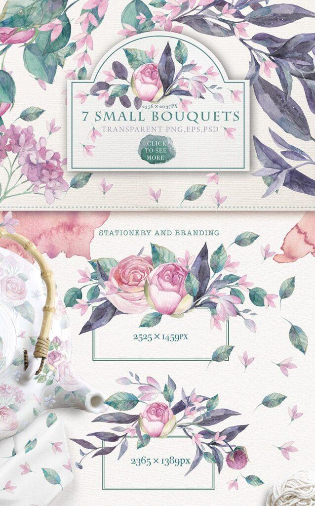 企业品牌装饰图案花卉/花圈/装饰图案The garden roses插图(11)