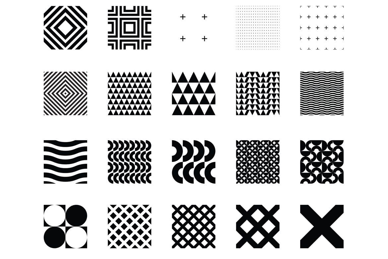 企业品牌辅助图案装饰元素应用场景100 seamless geometric patterns插图(13)