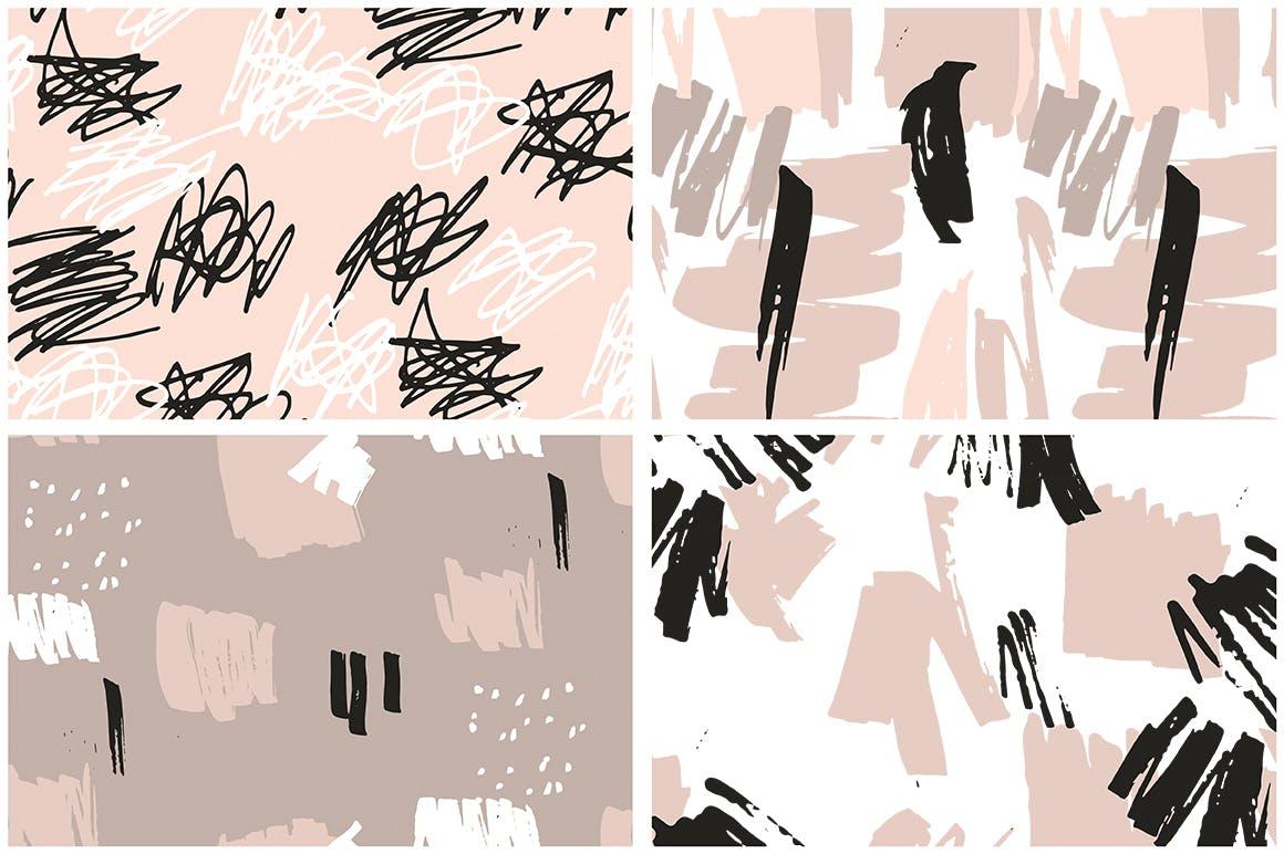 腮红粉红色系列装饰图案花纹素材Blush Crush Patterns Instagram Templates插图(12)