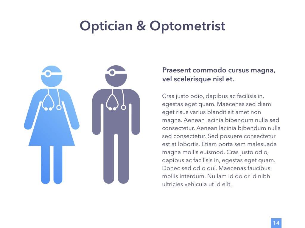 眼睛健康演讲活动PPT幻灯片模板Eye Health Keynote Template插图(9)