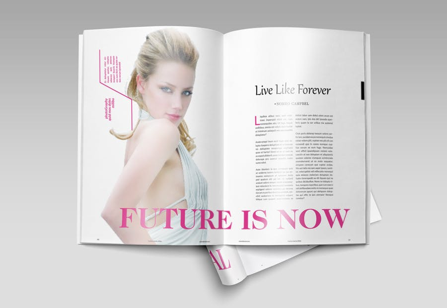 模特经纪或时装展览杂志模板素材Fashion Magazine R8C6UK插图(11)
