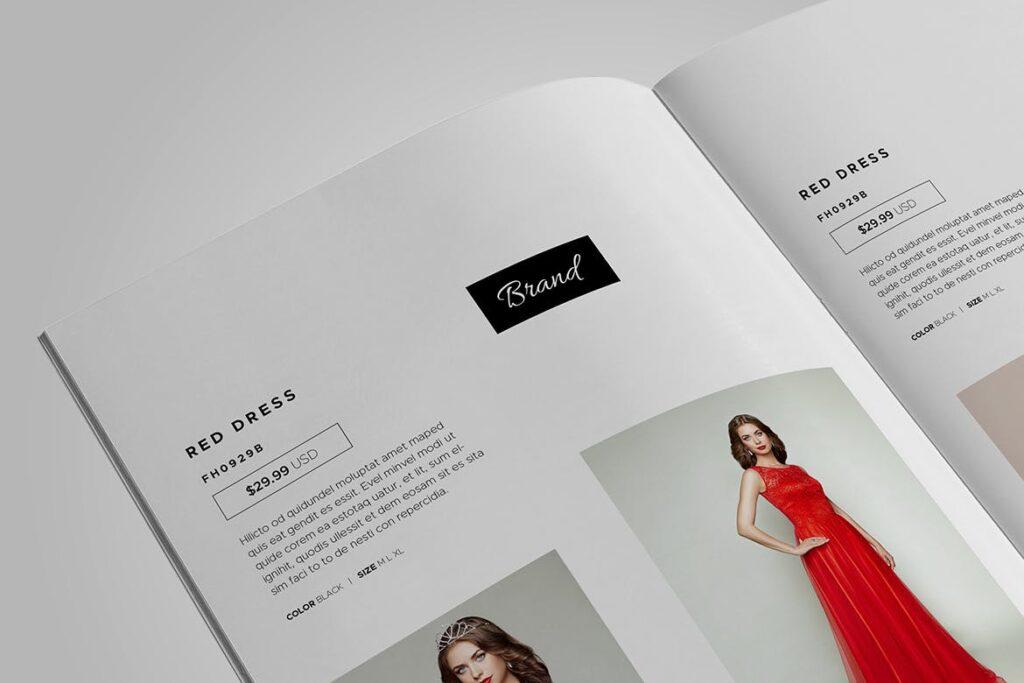 时尚服装/产品目录画册模板Product Catalog Template插图(12)