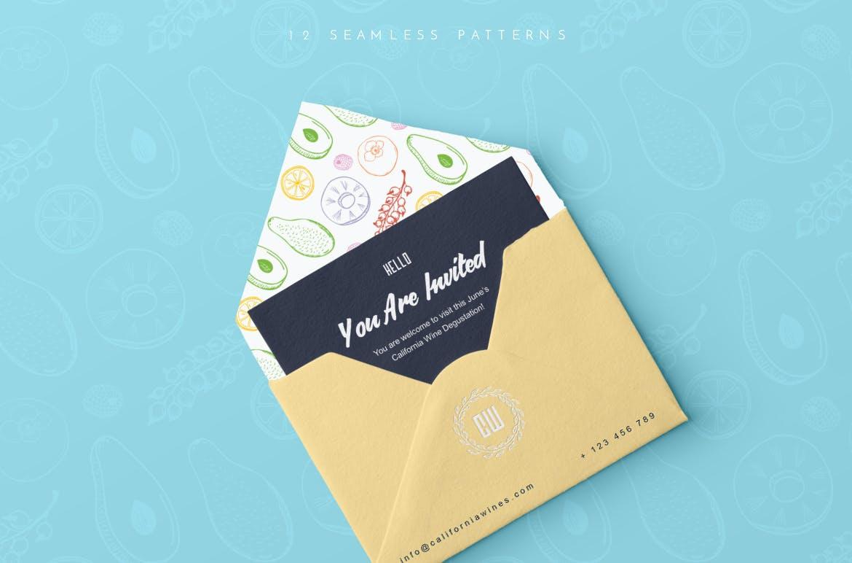 美食餐饮品牌宣传手绘矢量图案素材Ratatouille Sketched插图(12)