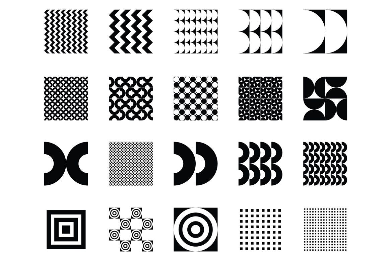 企业品牌辅助图案装饰元素应用场景100 seamless geometric patterns插图(15)