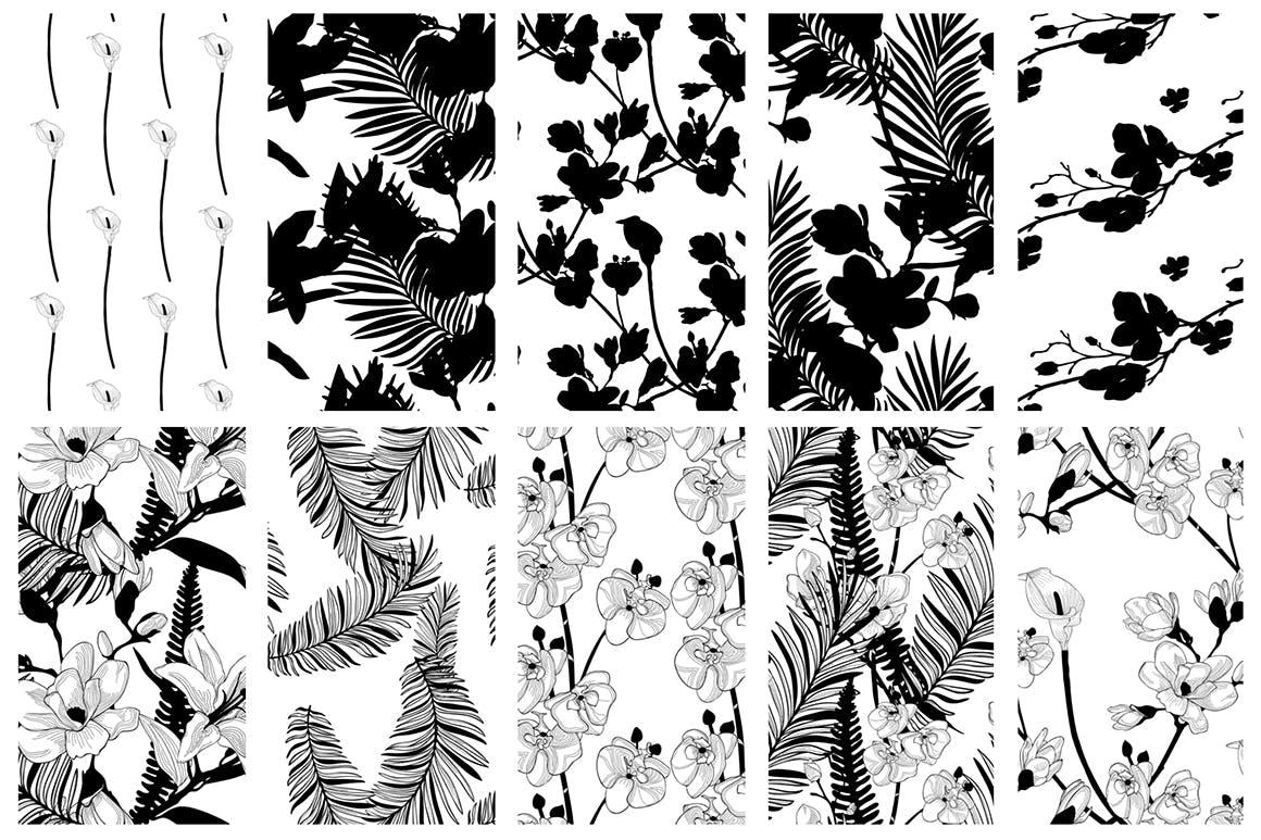 35个植物矢量图案装饰展示效果35 Patterns 8 Instagram Templates插图(12)