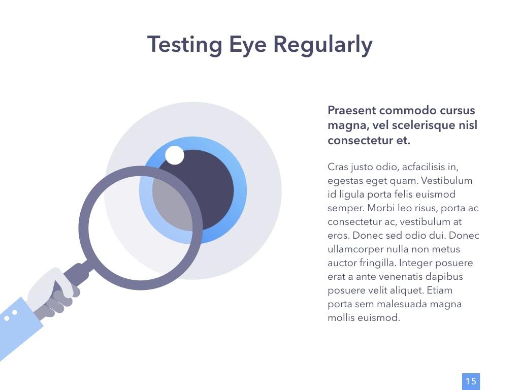 眼睛健康演讲活动PPT幻灯片模板Eye Health Keynote Template插图(10)