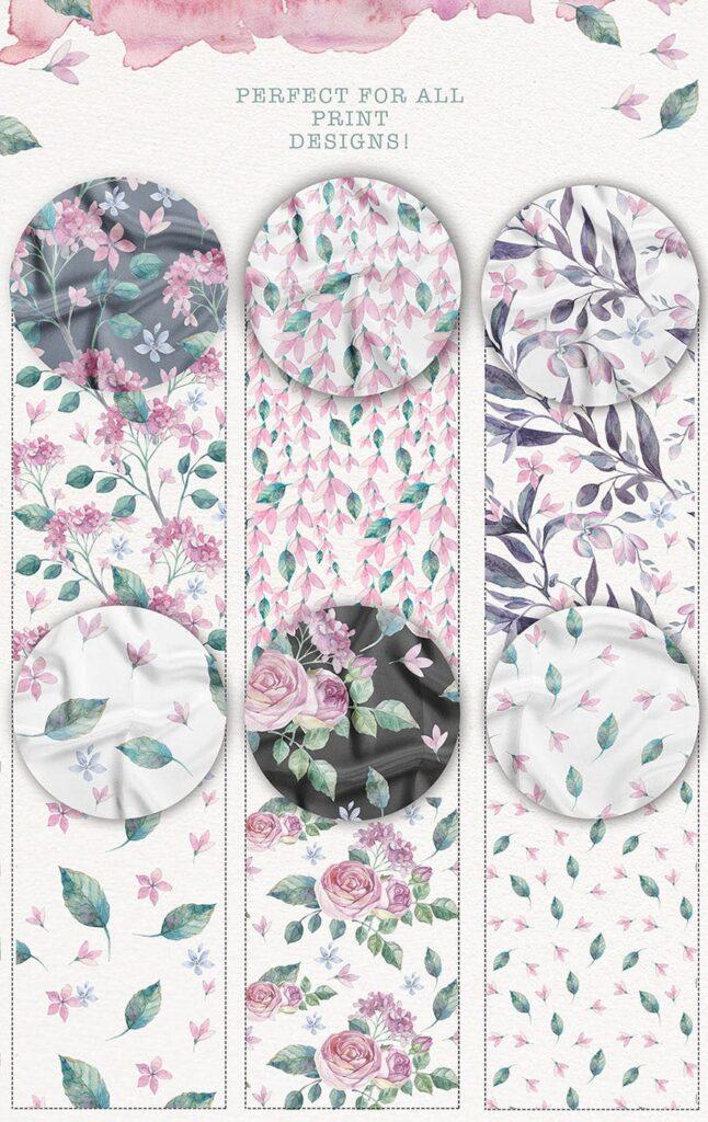 企业品牌装饰图案花卉/花圈/装饰图案The garden roses插图(13)