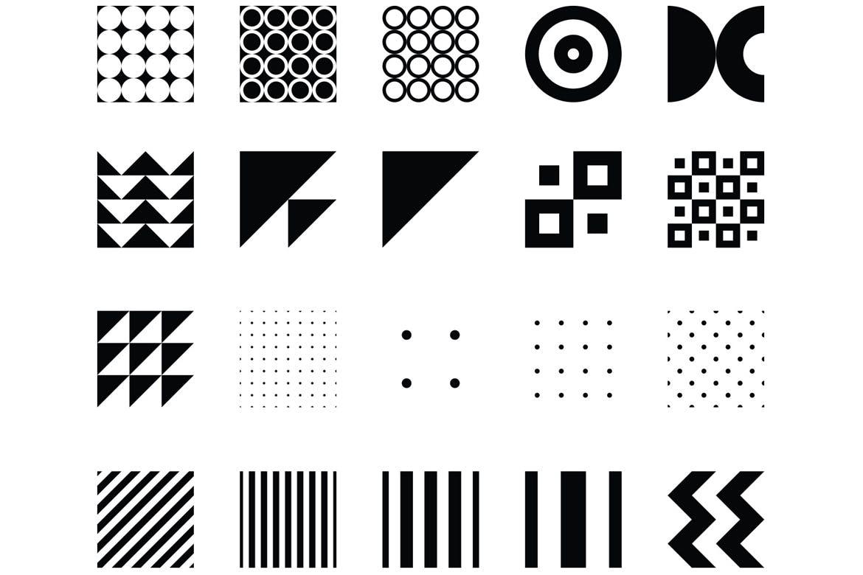 企业品牌辅助图案装饰元素应用场景100 seamless geometric patterns插图(14)