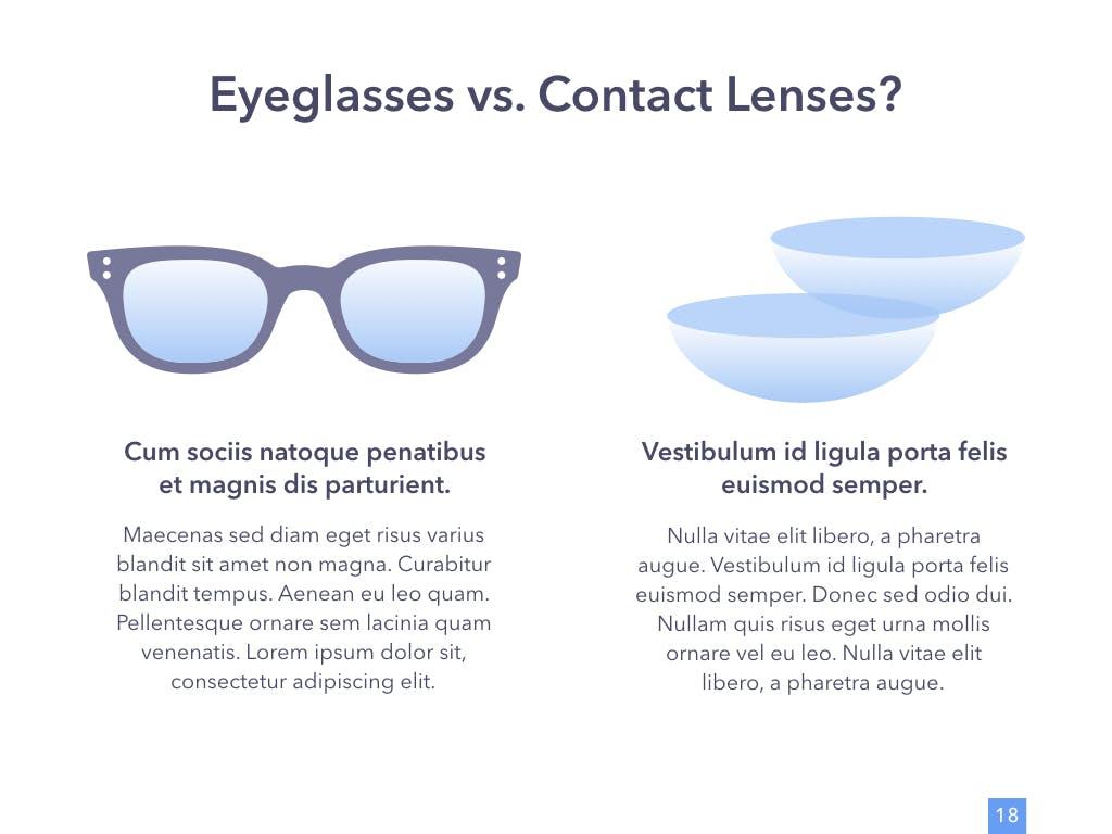 眼睛健康演讲活动PPT幻灯片模板Eye Health Keynote Template插图(12)