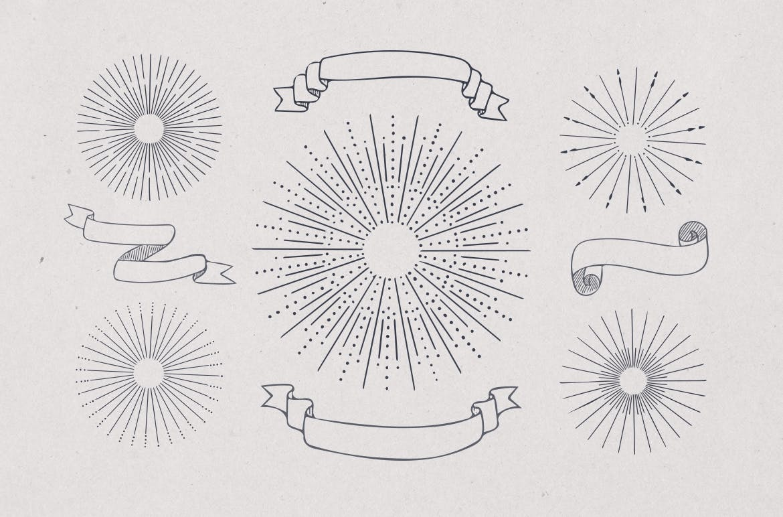 美食餐饮品牌宣传手绘矢量图案素材Ratatouille Sketched插图(15)