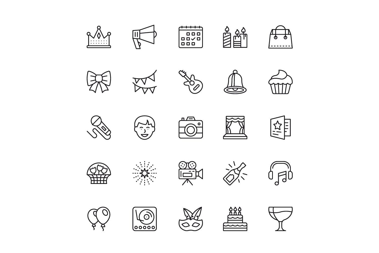 150个线性图标设计源文件下载150 Line Icons插图(1)