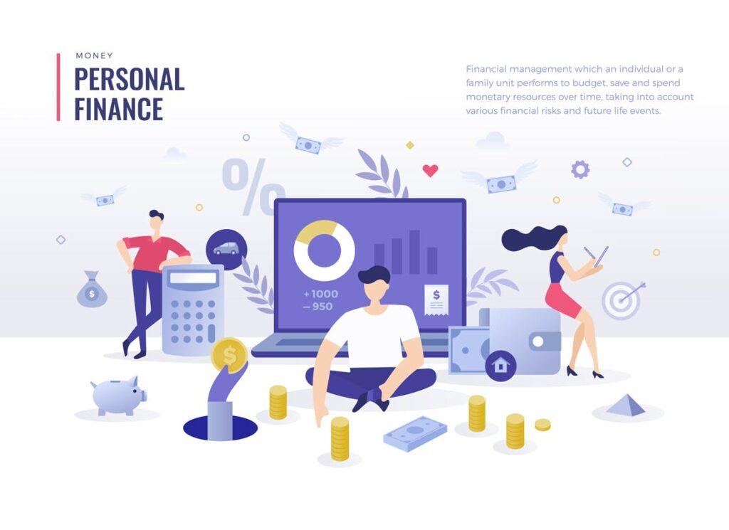 金融货币扁平风场景创意插图4 Money Finance Flat Illustration Concepts插图(1)