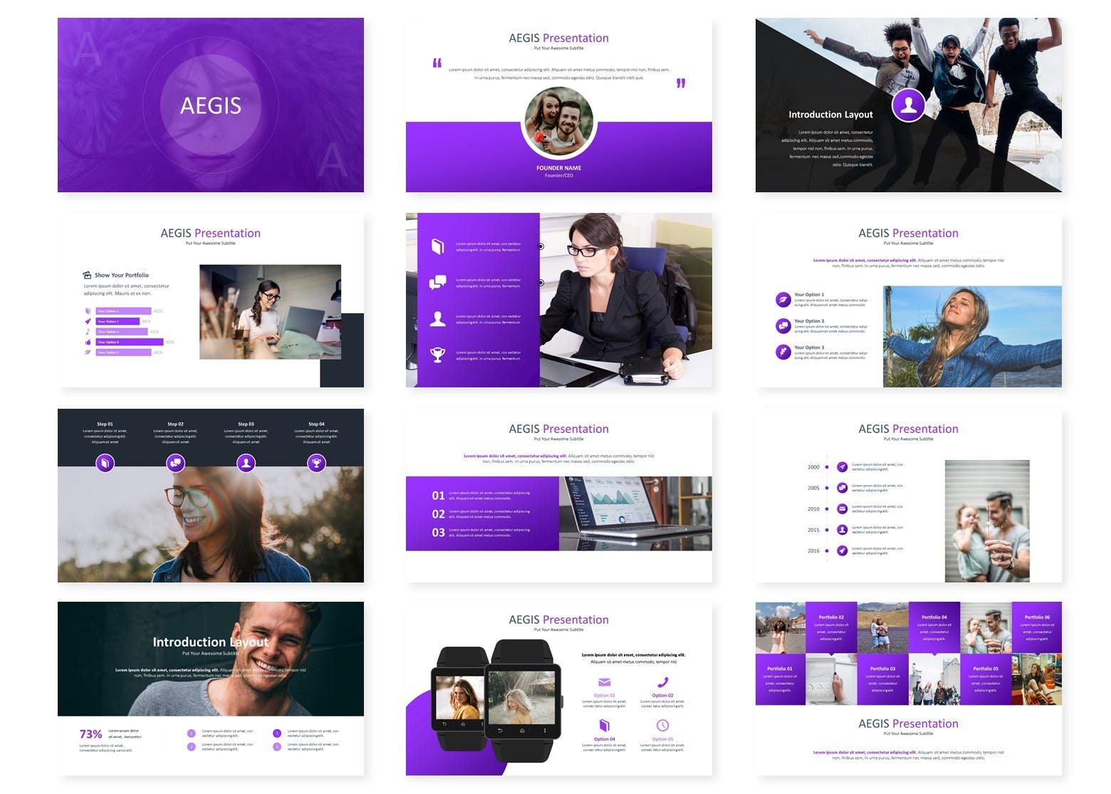 企业新产品市场调研提案PPT幻灯片模板下载Aegis Google Slides Template插图(1)