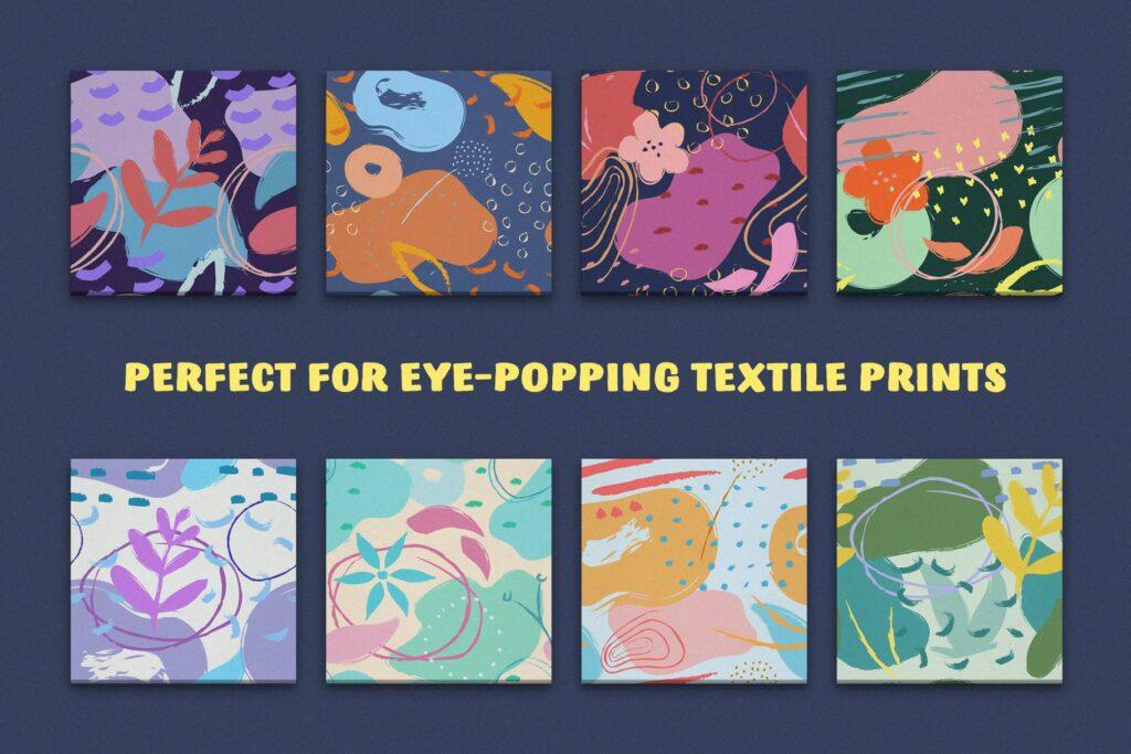 艺术笔触抽象元素装饰图案Artistic Dimension Abstract Patterns插图(1)