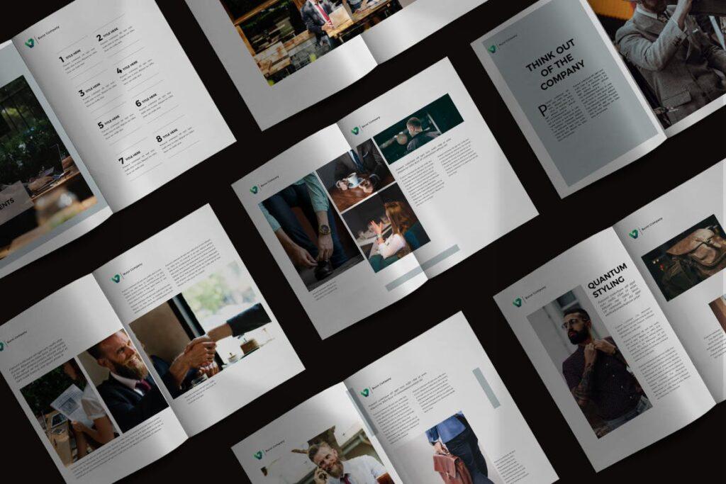 工作室产品介绍画册模板BURST Brochure Corporate插图(1)