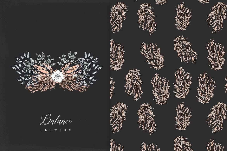 平衡花绿植品牌素材模板下载Balance Flowers插图(1)