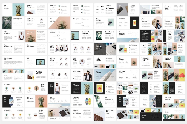市场活动策划/销售数据PPT幻灯片模板下载Be Google Slides Template插图(1)