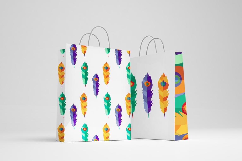 明亮的波西米亚图案插图抱枕装饰图案素材Bright Boho Patterns插图(4)