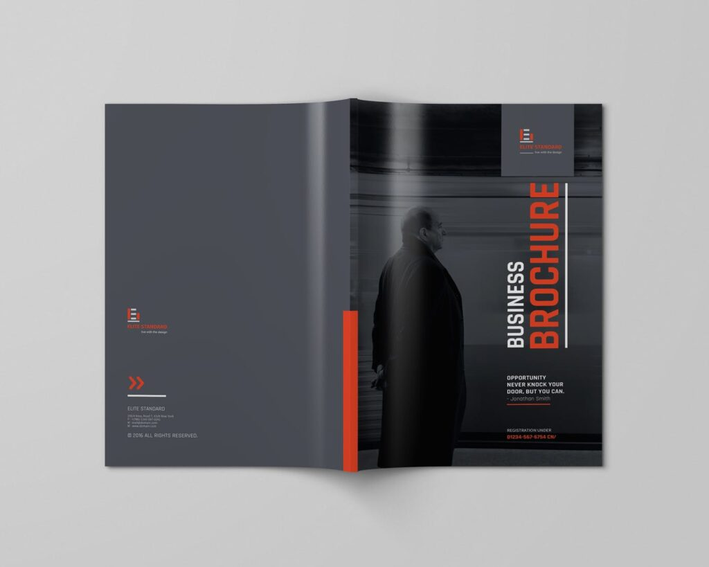 精致企业服务类/产品画册杂志模板Brochure WBYXNN插图(1)