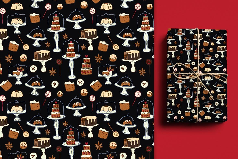 生日蛋糕相关元素装饰图案纹理Cakes Patterns插图(7)