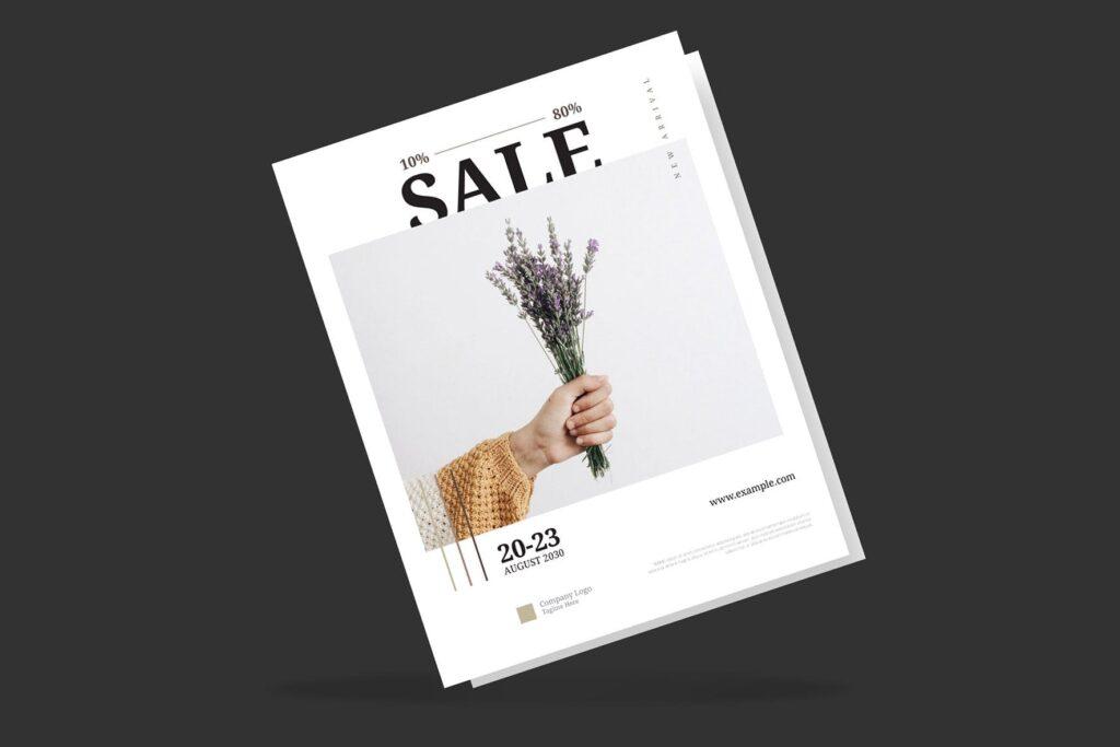 简约商业活动传单模板素材下载Clean and minimal Fashion Event Flyer Poster插图(4)