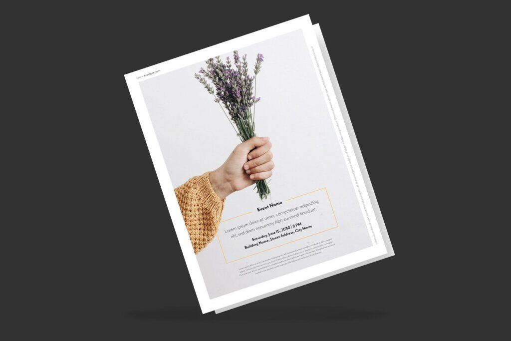 简约商业活动传单模板素材下载Clean and minimal Fashion Event Flyer Poster插图(1)