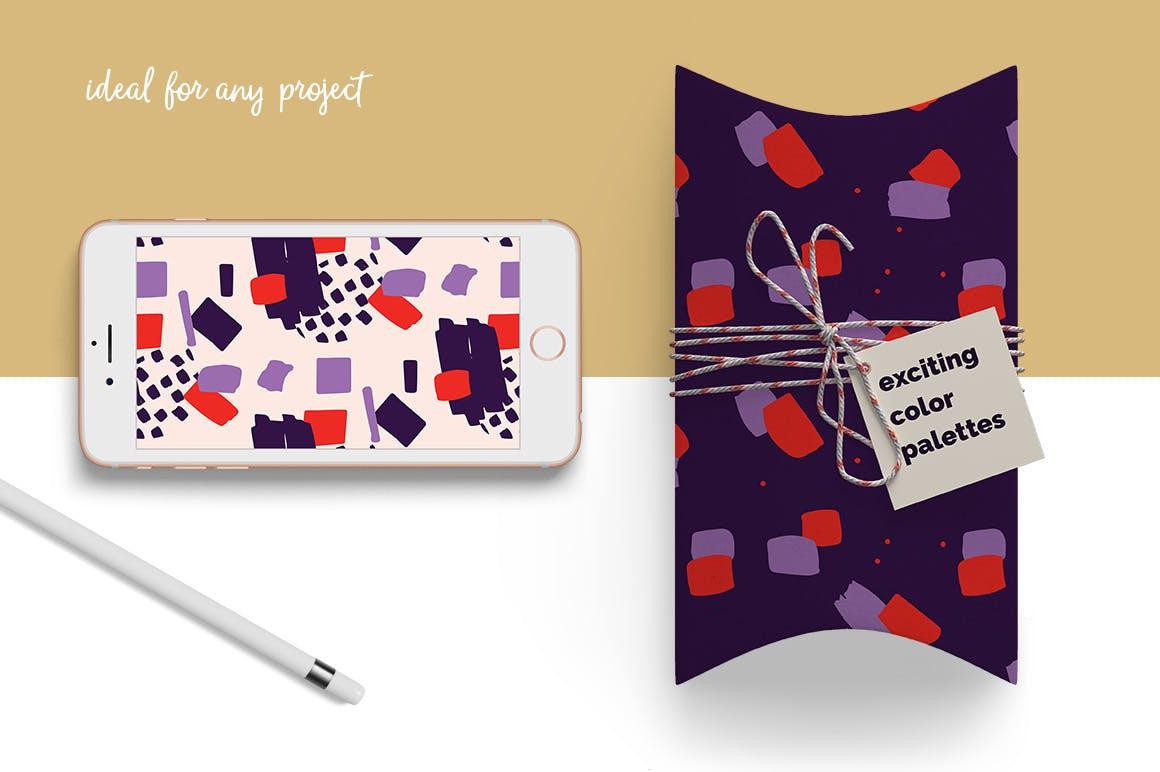 40个创意拼贴彩色图案涂鸦下载Collage Colorful Patterns插图(1)