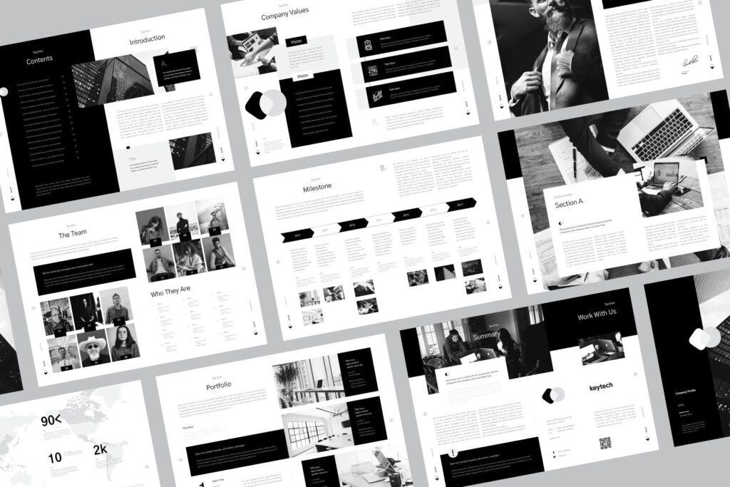 企业简介/产品介绍画册杂志模板素材Company Profile插图(1)