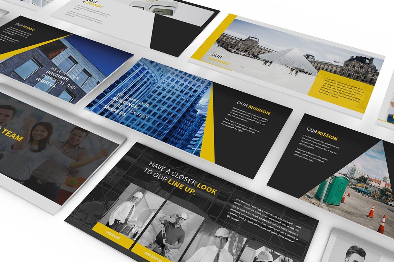 建筑行业团队介绍幻灯片模板展示Construction Powerpoint Presentation插图(1)