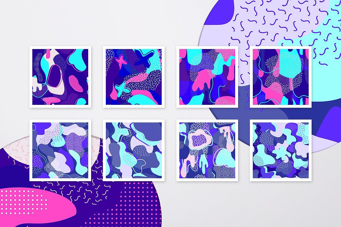 时尚化妆品装饰图案素材下载Cosmic Patterns Collection插图(1)